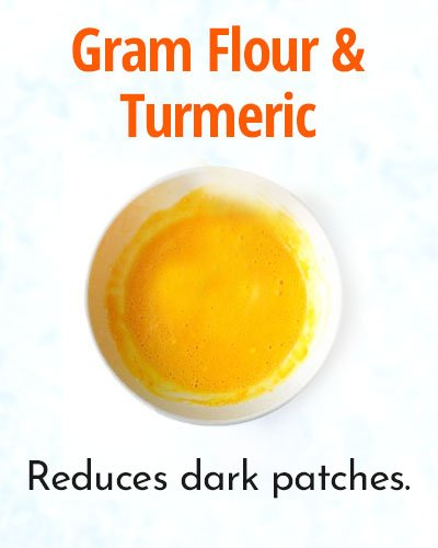 Gram Flour and Turmeric Pack for Glowing Skin