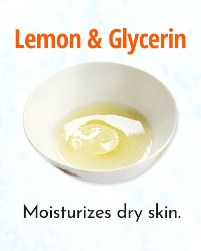 Lemon and Glycerin Natural Remedy for Sun Tanned Skin