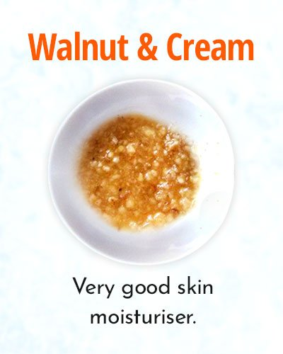 Walnut and Cream Face Mask for Sun Tan Removal