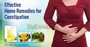 Home remedies for constipation.