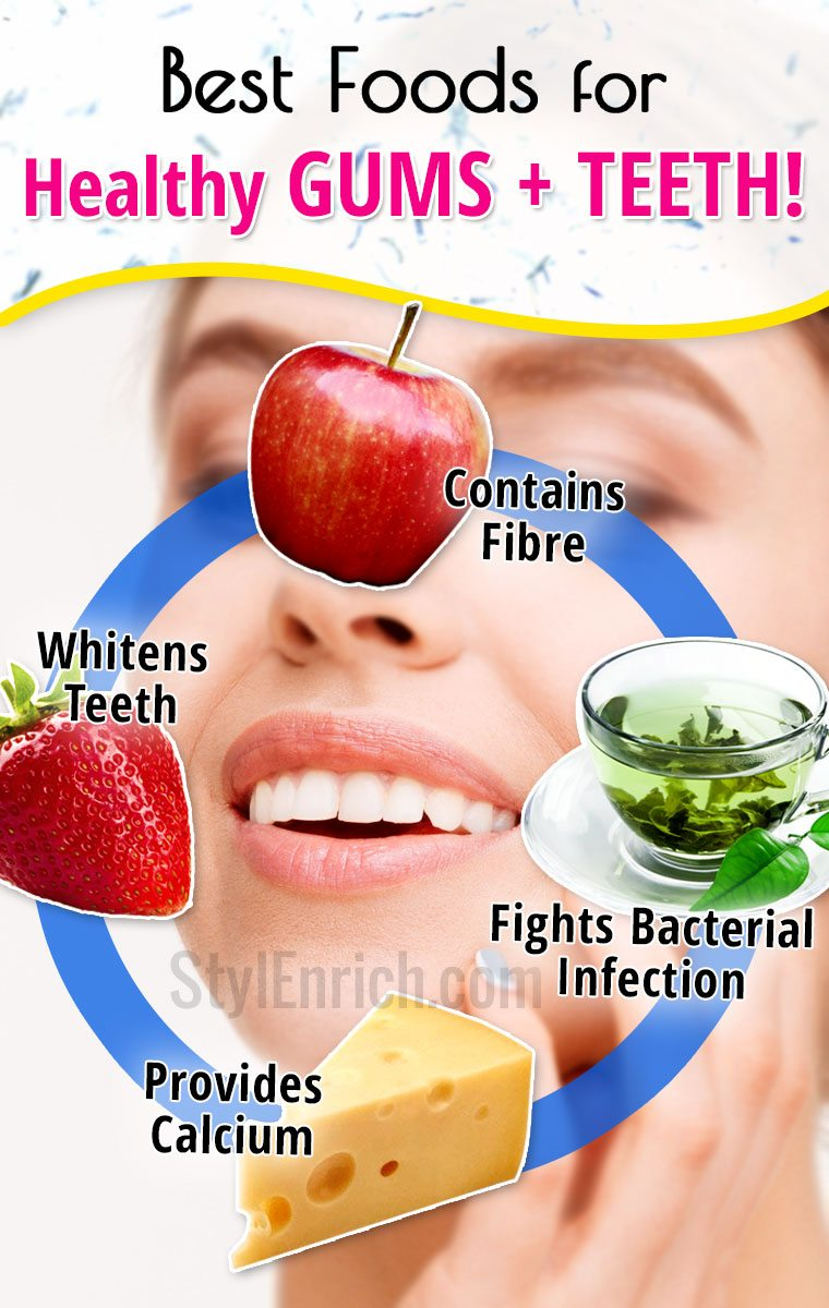Foods for healthy gums and strong teeth