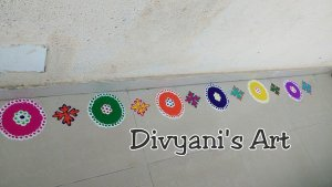 Another Rangoli by Divyani