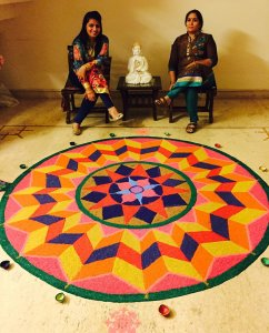 Kanika Bhatia Beautiful Rangoli Design