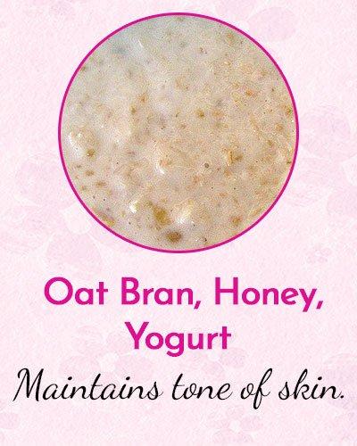 Oat Bran, Honey, Yogurt and Olive Oil Face Mask