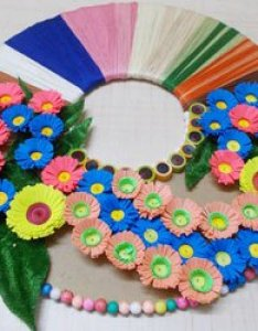 Final wall decor also ideas easy paper craft using best out of waste rh diyylenrich