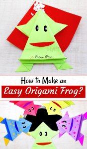 How to make origami frog for kids
