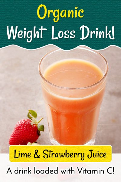 Lime and Strawberry Juice to Lose Weight Fast