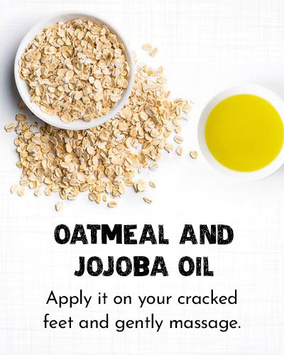 Oatmeal and Jojoba Oil for Dry Cracked Feet