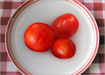 X Marks on tomato