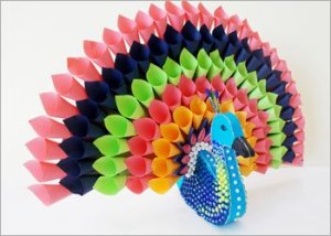 Paper-peacock-craft-home-decor
