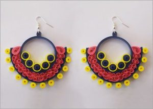 Round-beehive-pattern-quilled-earrings