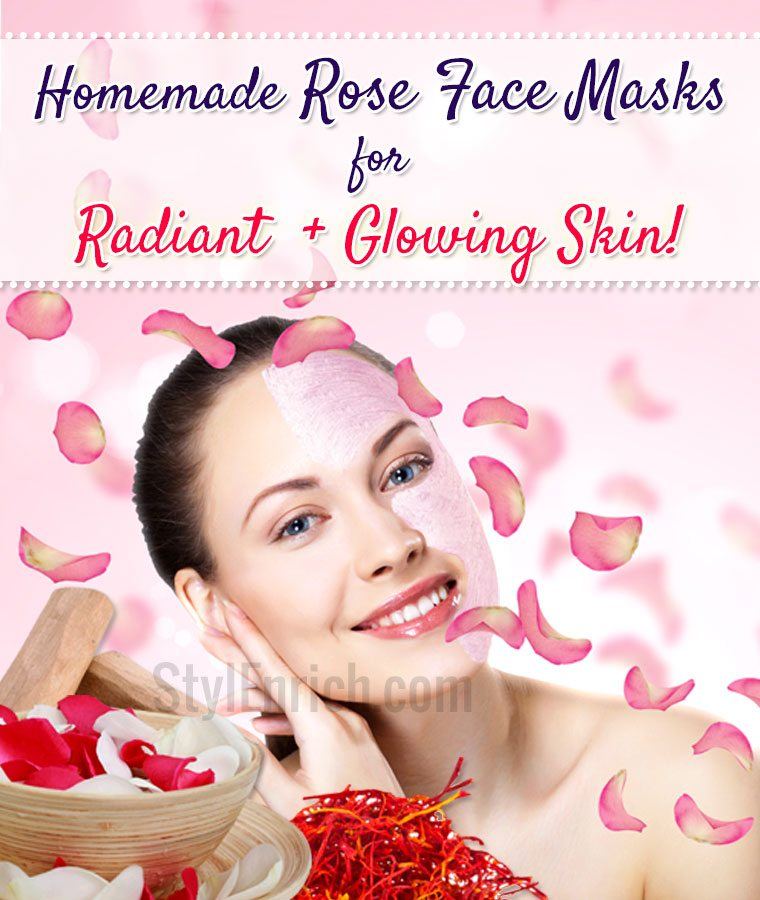 Homemade Rose Face Masks for Glowing Skin