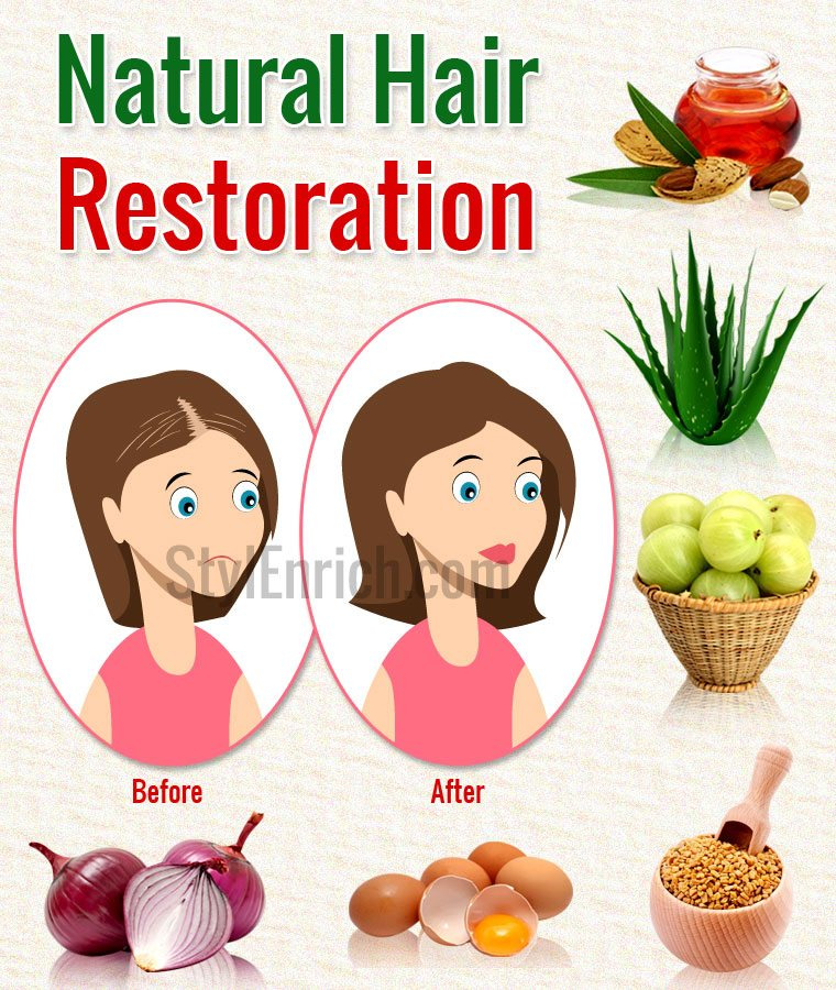 Natural Hair Restoration using Home Remedies