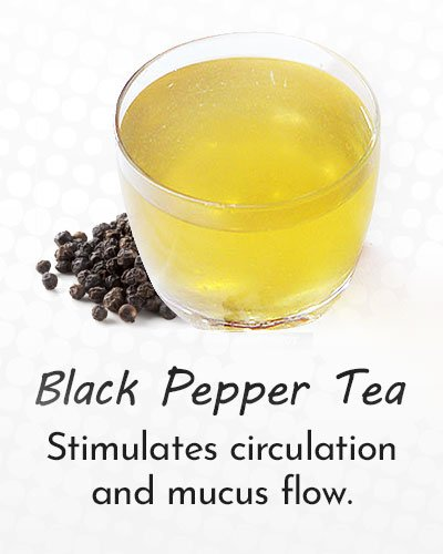 Black Pepper Tea for Cough Treatment