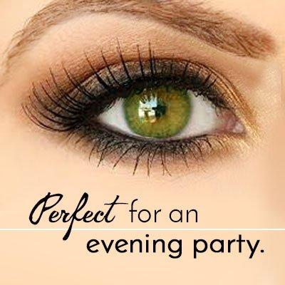 Dramatic Gold Eye Makeup for Green Eyes