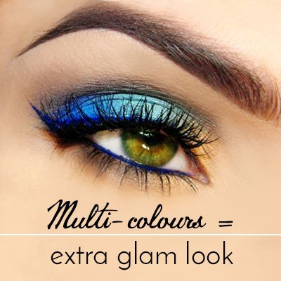 Multi-colours Makeup for Green Eyes