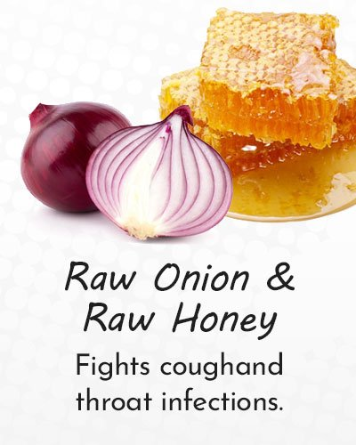Raw Onion and Raw Honey for Cough Treatment