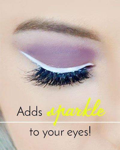 White Eyeliner Makeup for Green Eyes