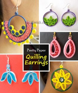 Handmade Earrings Easy Quilling Projects.