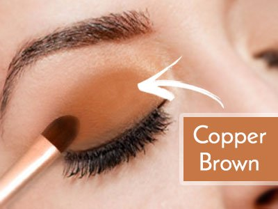 Copper Or Brown Shadows For Blue Eyes
