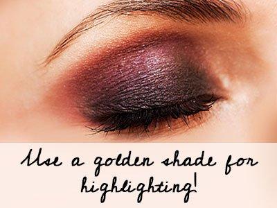 Golden Shade For Highlighting Brown Eyes