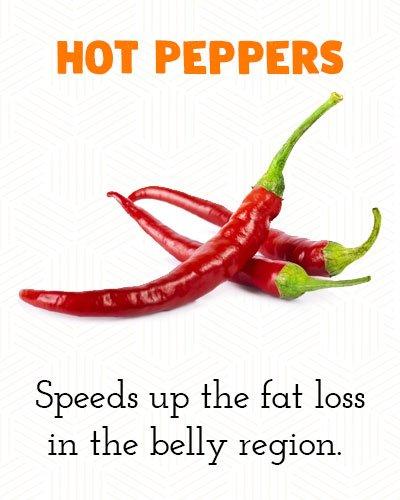Hete pepers om buikvet te verliezen