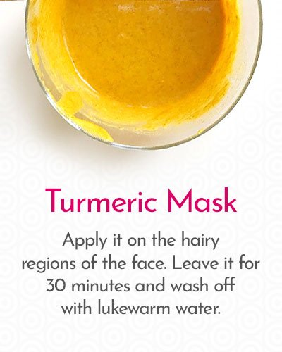 Turmeric to Remove Hair on Face