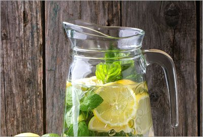 Cucumber,lemon,mint and ginger infusion