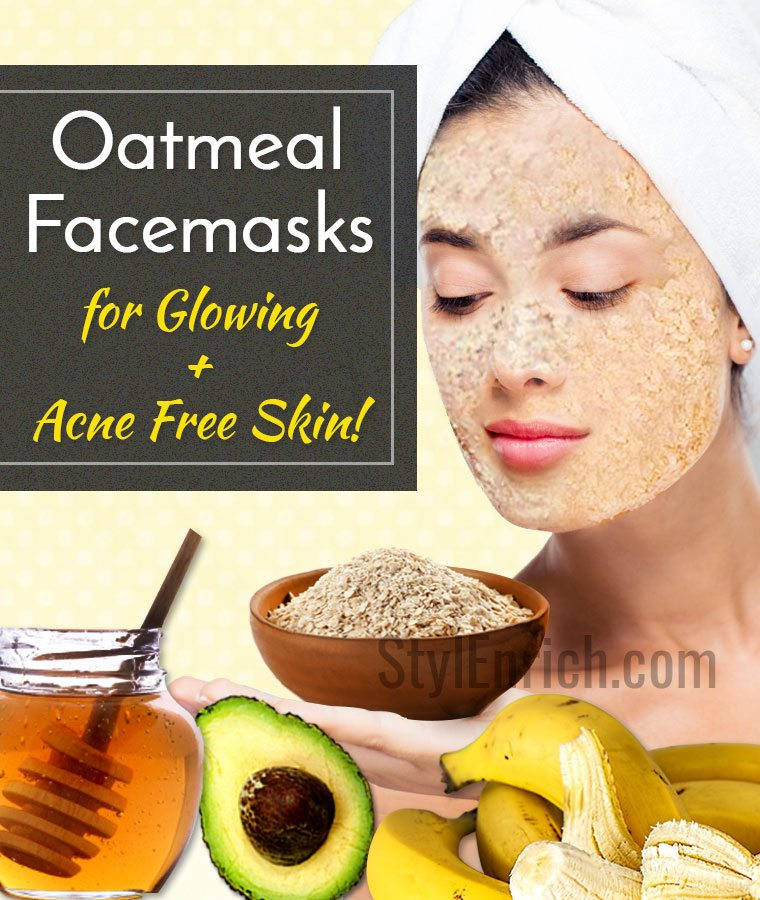 Oatmeal face mask recipes for glowing and acne free skin homemade oatmeal face mask recipes solutioingenieria Gallery
