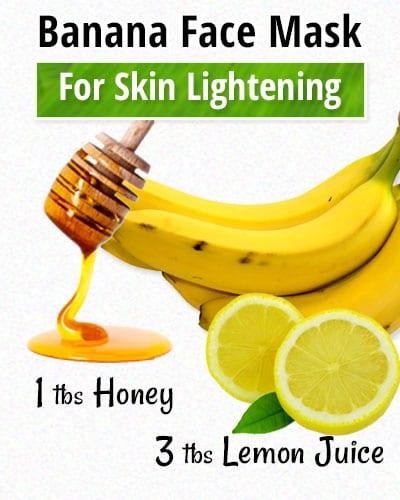 Banana Facial Mask for Skin Lightening