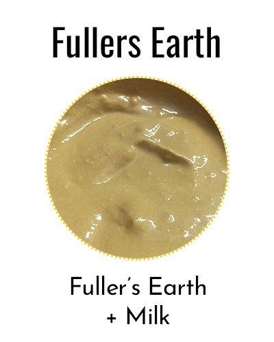 Fullers Earth and Milk For Glowing Skin