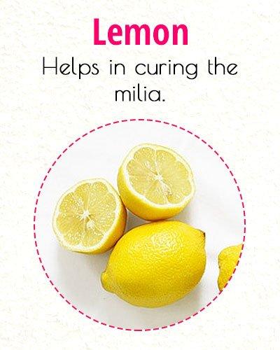 Lemon To Treat Milia On Face