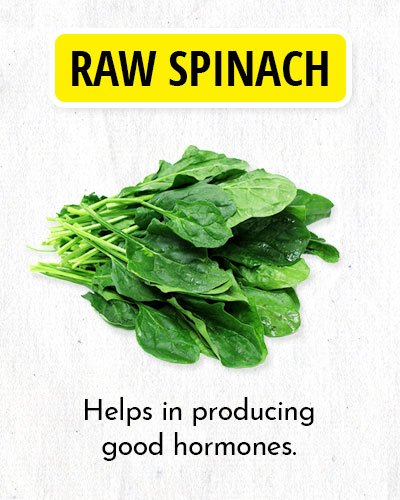Raw Spinach to Balance Hormone
