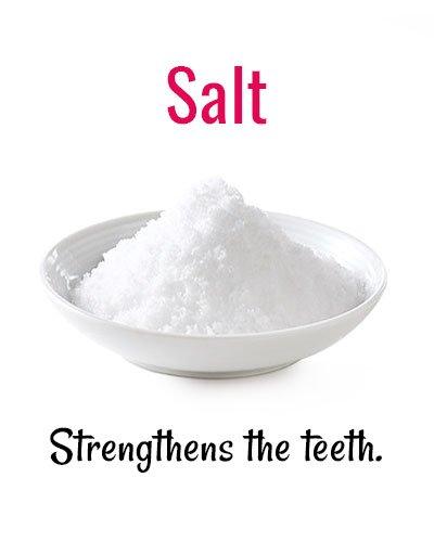 Salt For Strengthens Your Teeth