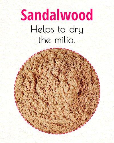 Sandalwood To Treat Milia On Face