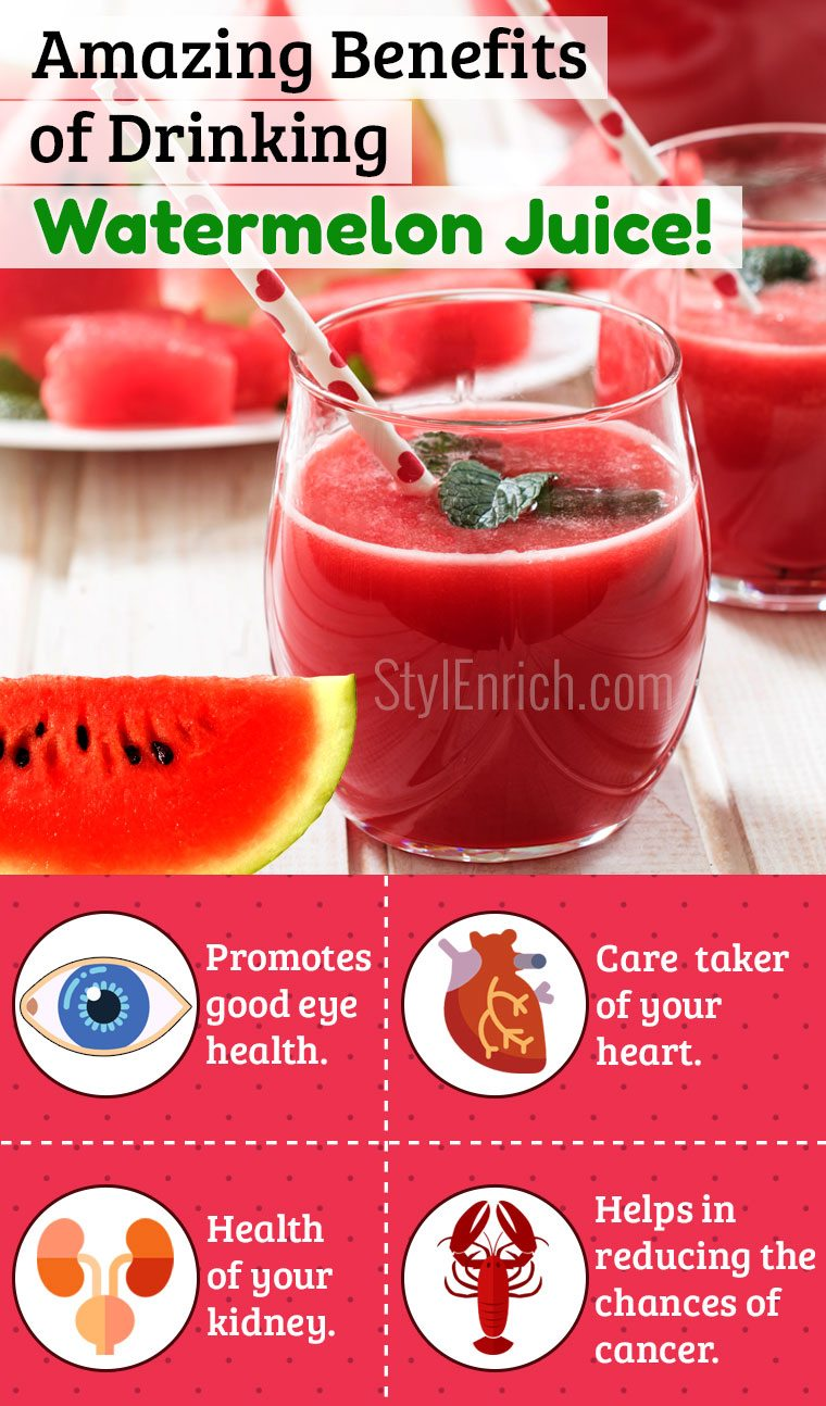 Watermelon juice benefits for skin and Health
