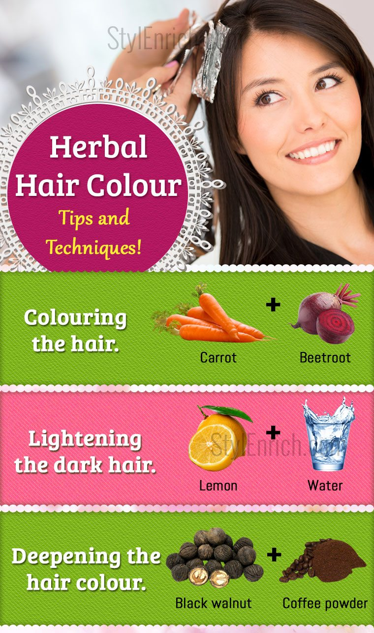 Herbal Hair Color Tips And Techniques To Colour Hair Naturally