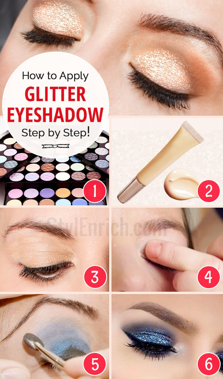 How To Apply Glitter Eyeshadow