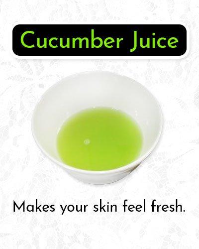 Cucumber Juiceto Remove Makeup