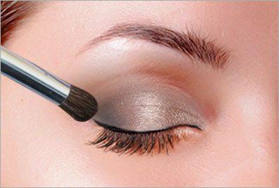 Apply eyeshadow using tape