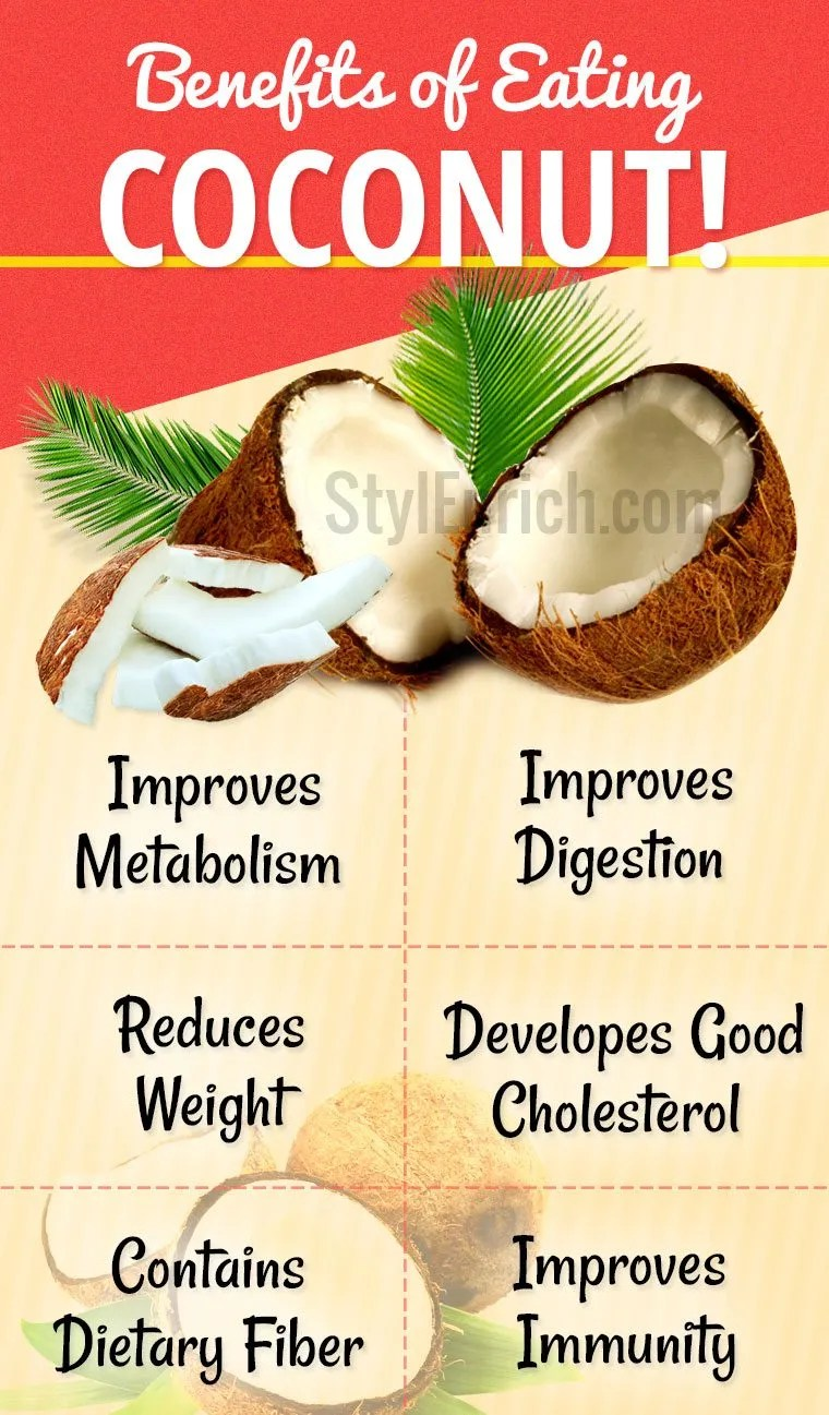 Benefits of eating coconut
