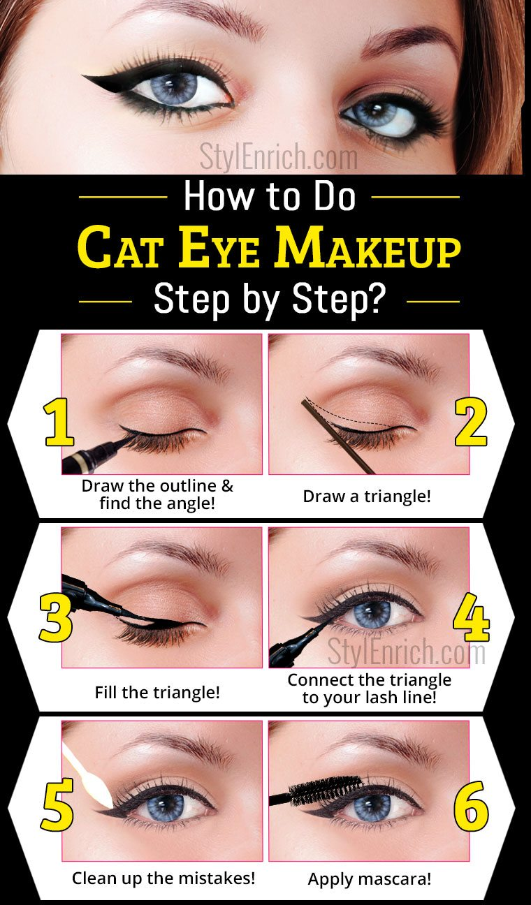 Cat Eye Makeup : Learn How To Do A Cat Eye Makeup
