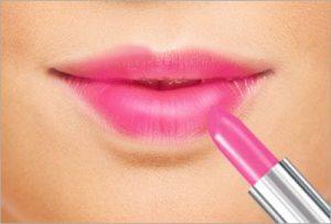 Avoid dark coloured lipstick