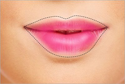 Draw a bigger lip line