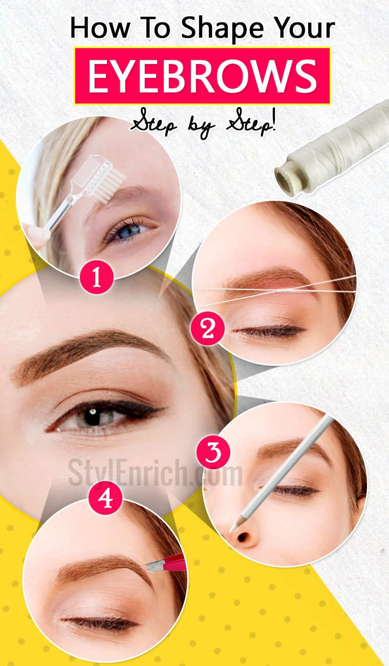 How To Shape Eyebrows Learn Step By Step Guide