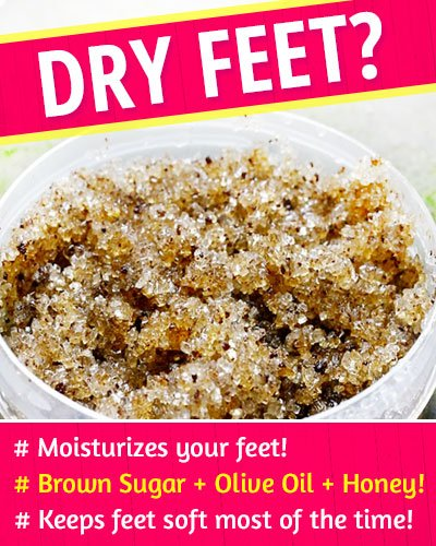 Brown Sugar Scrub to Fix Dry Feet