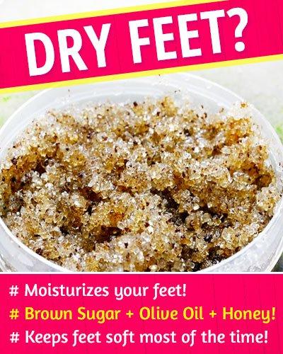 Brown Sugar Scrub to Fix Dry Feet
