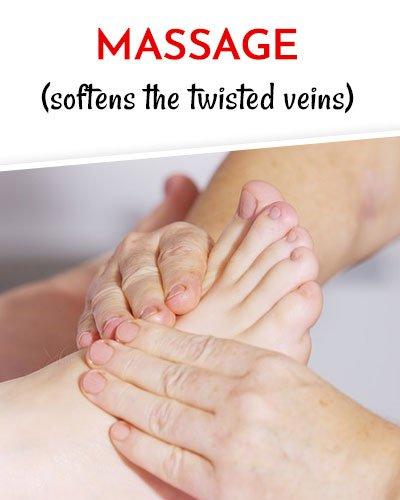 Massageto Get Rid of Varicose Veins