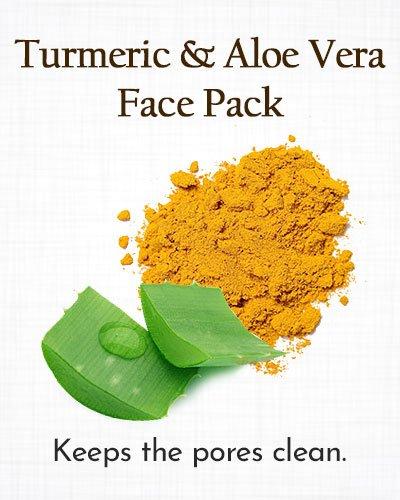 Turmeric and Aloe Vera Face Pack