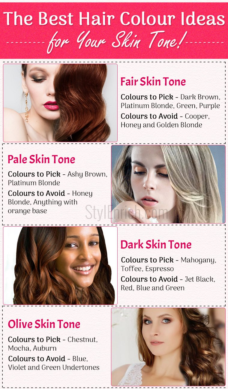 The Best Hair Colour Ideas For Your Skin Tone Stylenrich